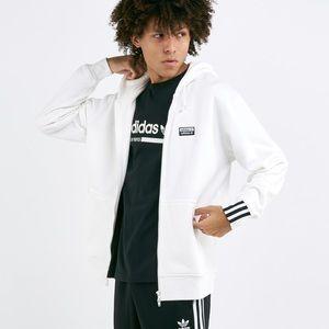 NWT Adidas R.Y.V. FZ Hoody White Zip Front Medium